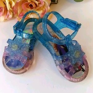 Disney Frozen 2 toddler size 7 jelly sandals